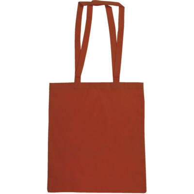 SNOWDOWN COTTON SHOPPER TOTE BAG in Red