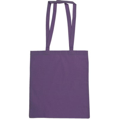 SNOWDOWN COTTON SHOPPER TOTE BAG in Purple