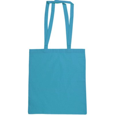 SNOWDOWN COTTON SHOPPER TOTE BAG in Navy Blue