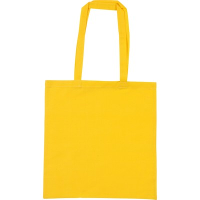 SNOWDOWN COTTON SHOPPER TOTE BAG in Yellow