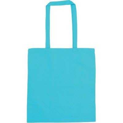SNOWDOWN COTTON SHOPPER TOTE BAG in Aqua