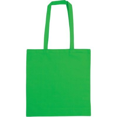SNOWDOWN COTTON SHOPPER TOTE BAG in Green