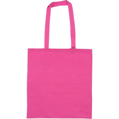 SNOWDOWN COTTON SHOPPER TOTE BAG in Pink