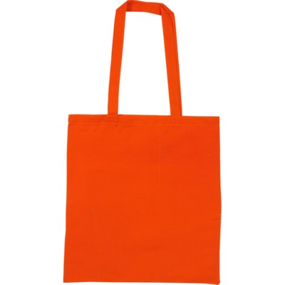 SNOWDOWN COTTON SHOPPER TOTE BAG in Orange