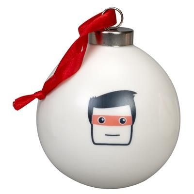 CHRISTMAS TREE BAUBLE in White