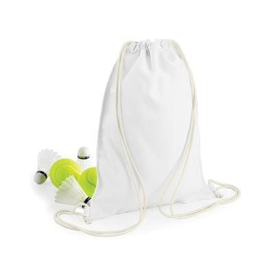 BAGBASE SUBLIMATION GYMSAC DRAWSTRING BAG in White