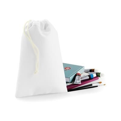 BAGBASE SUBLIMATION STUFF DRAWSTRING BAG in White