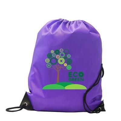 BURTON POLYESTER DRAWSTRING GYMSAC BAG in Purple