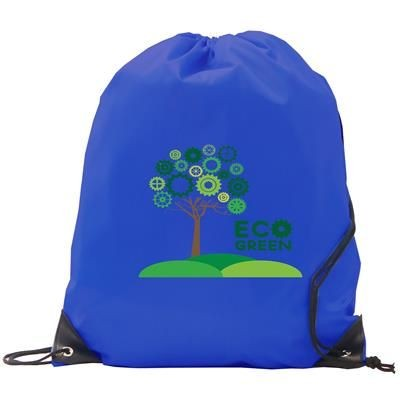 BURTON POLYESTER DRAWSTRING GYMSAC BAG in Royal Blue