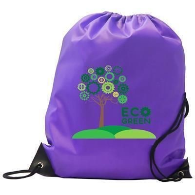 BURTON CHILDRENS 210D PURPLE POLYESTER GYM SACK DRAWSTRING BAG