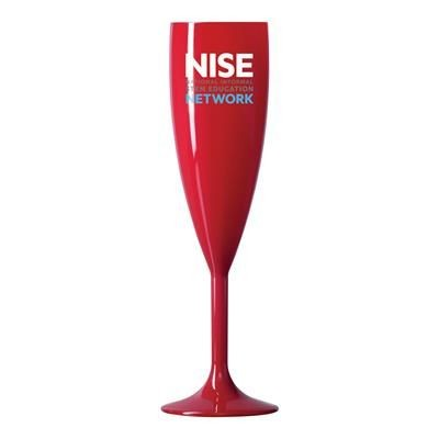 REUSABLE RED CHAMPAGNE FLUTE 187ML-6