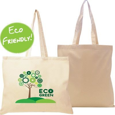 10OZ ECO FRIENDLY NATURAL COTTON CANVAS SHOPPER TOTE BAG with Gusset