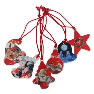 RECYCLED SET OF 6 CHRISTMAS DECORATIONS