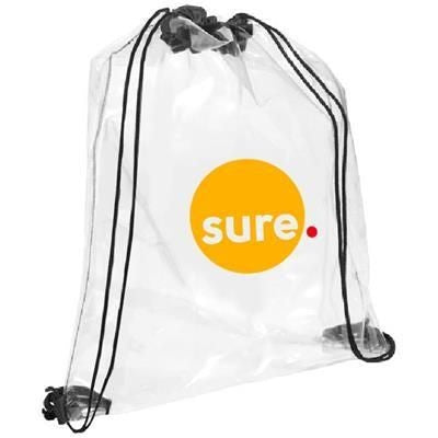 CLEAR TRANSPARENT PVC DRAWSTRING BAG