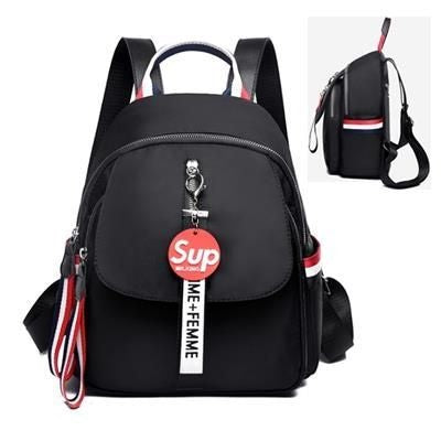 FLAP NYLON BACKPACK RUCKSACK