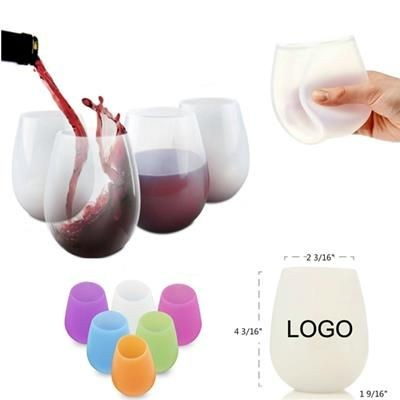 UNBREAKABLE SILICON WINE GLASS