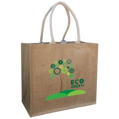 TATTON ECO FRIENDLY NATURAL JUTE SHOPPER TOTE BAG FOR LIFE with Long Handles and Extra Large Gusset