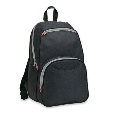 BACKPACK RUCKSACK with Outside Pockets in Black