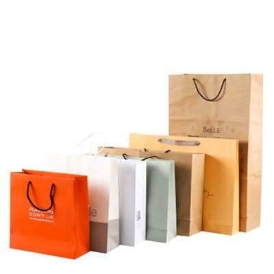 170GSM RE-USABLE THICK KRAFT PAPER CARRIER BAG with Rope Handles