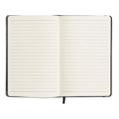 96 PAGE NOTE BOOK with Lined Paper in Black
