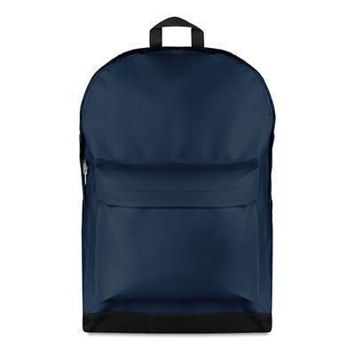 600D POLYESTER LARGE BACKPACK RUCKSACK in Blue