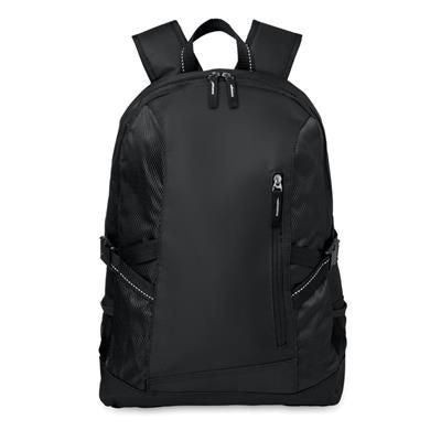 15 COMPUTER BACKPACK RUCKSACK in 600d with Rip Stop Details