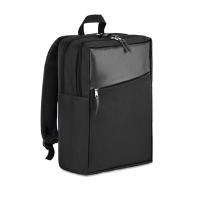 13 INCH COMPUTER BACKPACK RUCKSACK in 600d 2 Tone Polyester