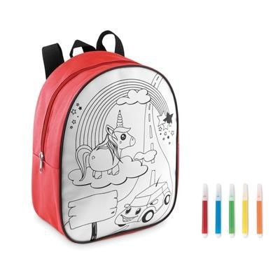 BACKPACK RUCKSACK in 600d Polyester with 5 Markers