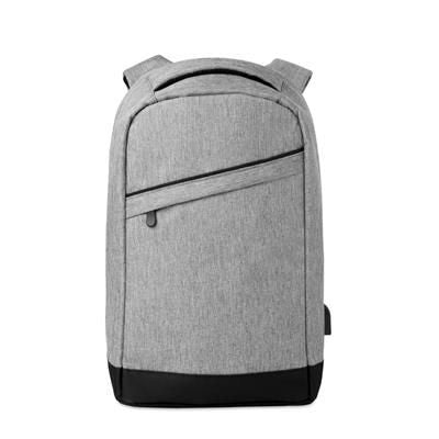600D 2 TONE POLYESTER BACKPACK RUCKSACK with Padded Shoulder Strap with Main Internal Compartment