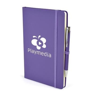 2-IN-1 A5 MOLE NOTEBOOK & PEN in Purple