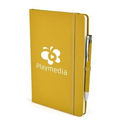 2-IN-1 A5 MOLE NOTEBOOK & PEN in Yellow