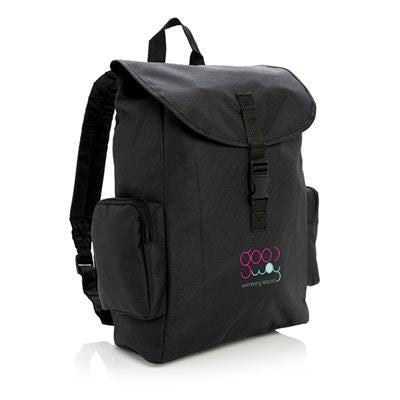 15 INCH LAPTOP BACKPACK RUCKSACK with Buckle in Black