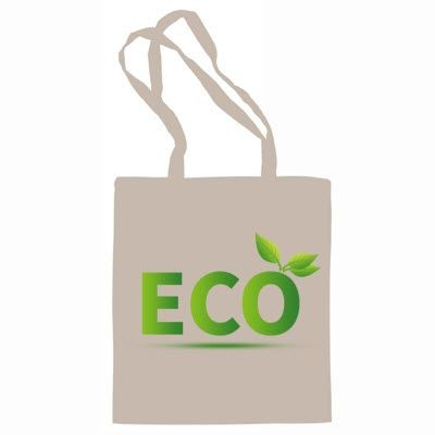 SPEKE 100% BIO-DEGRADABLE NATURAL COTTON SHOPPER TOTE BAG FOR LIFE