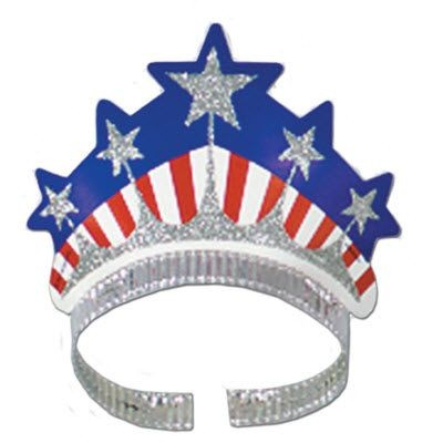 USA STARS & STRIPE GLITTERED TIARA