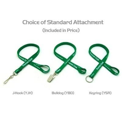1 - 2 INCH SILKSCREENED TUBULAR LANYARD with J Hook