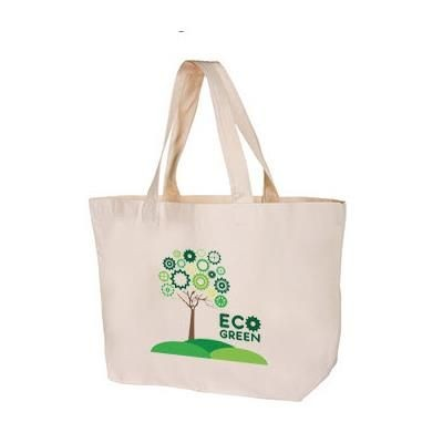 100% NATURAL ECO FRIENDLY COTTON SUPER SIZE SHOPPER TOTE BAG