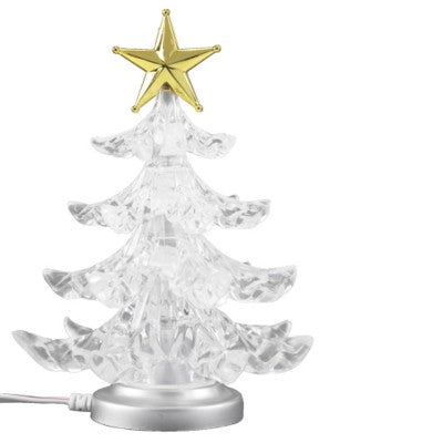 USB DESK CHRISTMAS TREE in Translucent Clear