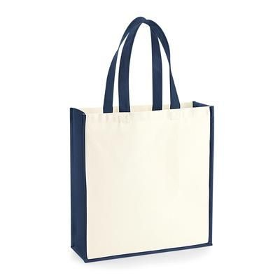 12OZ BIODEGRADABLE CANVAS TOTE BAG with Contrast Colour Trim & Handles