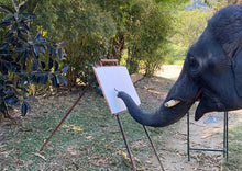 Load image into Gallery viewer, Paintings made by elephants at our elephant park and clinic in Chiang Mai, Thailand.