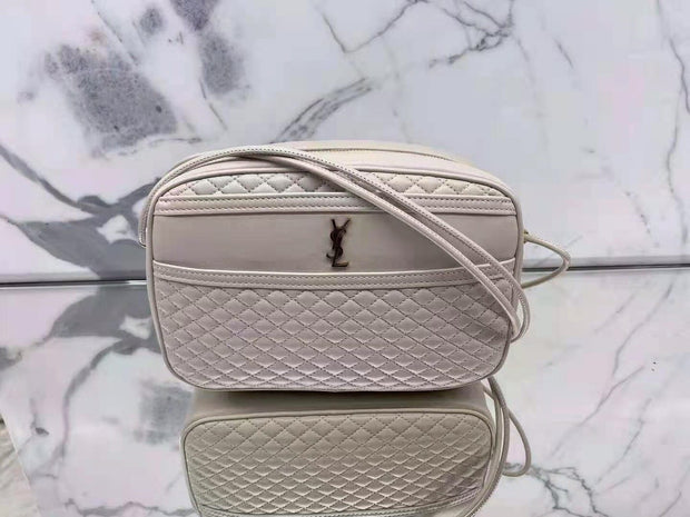 YSL Diamond- Shaped Quilted Single Zipper Bag
