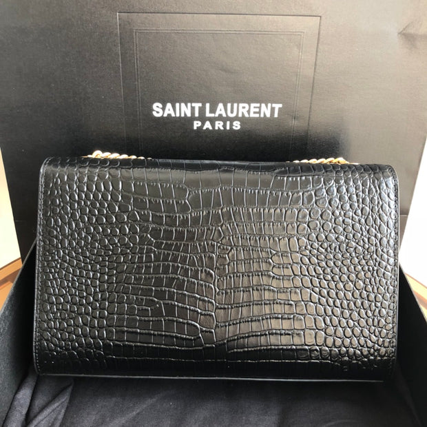YSL Small Crocodile Fringe Single Bag.