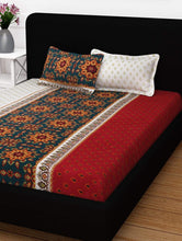 Load image into Gallery viewer, 120 TC Floral 1 Double Bedsheet With 2 Pillow Covers Story@Home