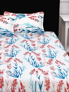 120 TC Floral 1 Double Bedsheet With 2 Pillow Covers Story@Home