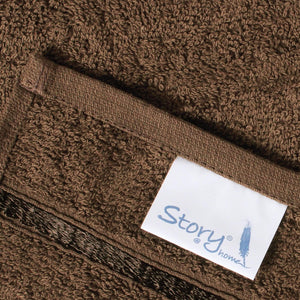 Cotton Medium Bath Towel, 1 Pc, Brown Story@Home
