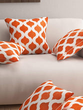 Load image into Gallery viewer, Designer 5 Piece Cushion Cover, Orange Story@Home