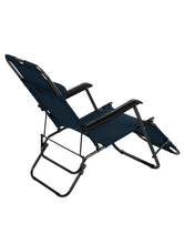 Load image into Gallery viewer, Easy Folding Reclining Patio Lounge Chair Cum Bed - Navy Blue Story@Home