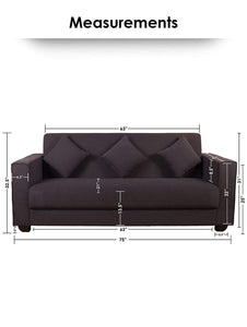 Modern Sofa - Couch For Three - Grey Story@Home