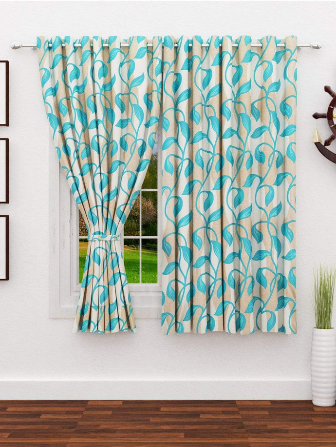 Nature Window Curtain Set - 2 Pcs, 5ft Story@Home