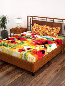 Picasso Cotton Double Bedsheet - 152 TC Story@Home
