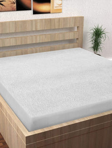 "Premium Water Resistant Hypoallergenic Cotton Single Mattress (s) Guard Protectors' - 78""x36"", White Story@Home"